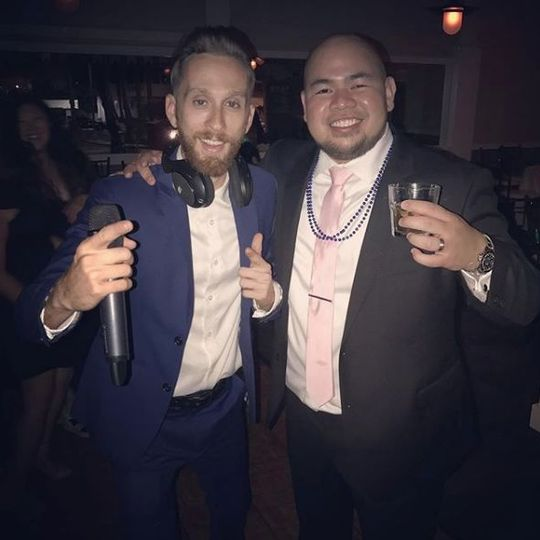 DJ Joey and groom