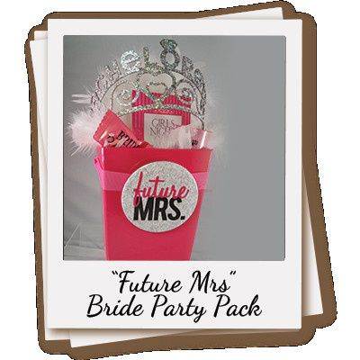 Party Pack for the Future Mrs.! Quantity: One (1) Gift Set Gift set contains: A Real Rhinestone...