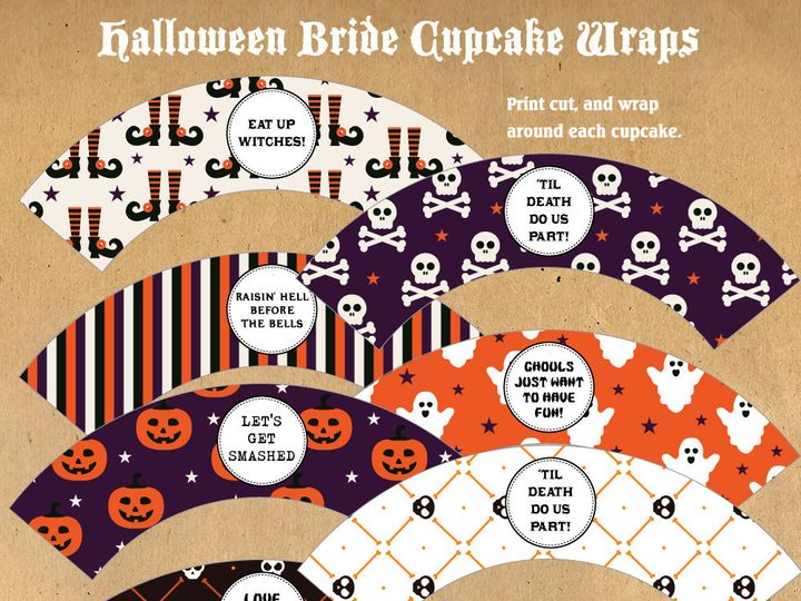 Tmx 1476334633826 Halloween Bride Cupcake Wrappers Blackwood wedding favor