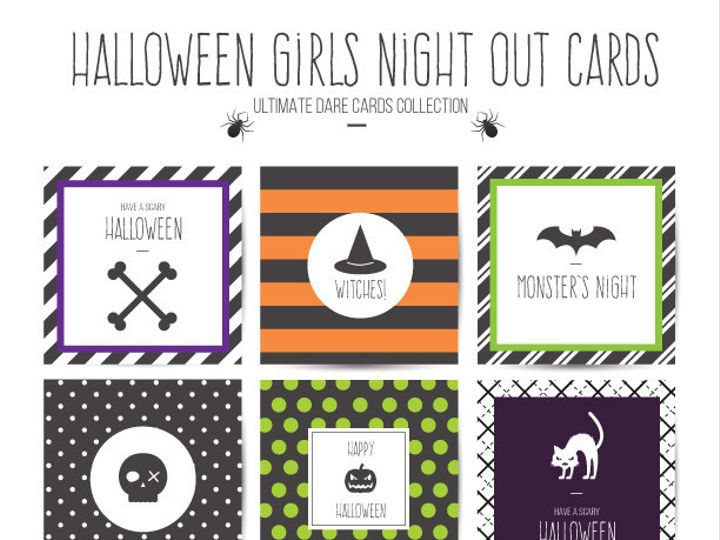 Tmx 1476334646231 Girlsnightouthalloweencards Blackwood wedding favor
