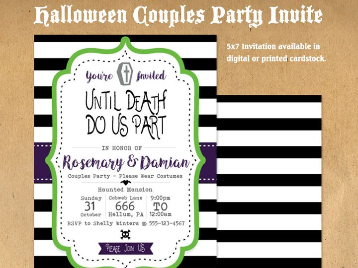 Tmx 1476334709429 Couple Halloween Party Invite1000 Blackwood wedding favor