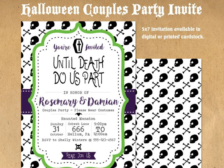 Tmx 1476334715524 Couple Halloween Party Invite21000 Blackwood wedding favor