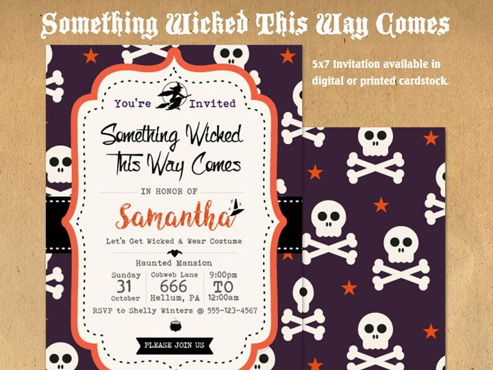 Tmx 1476334745555 Something Wicked Halloween Party Invite1000 Blackwood wedding favor