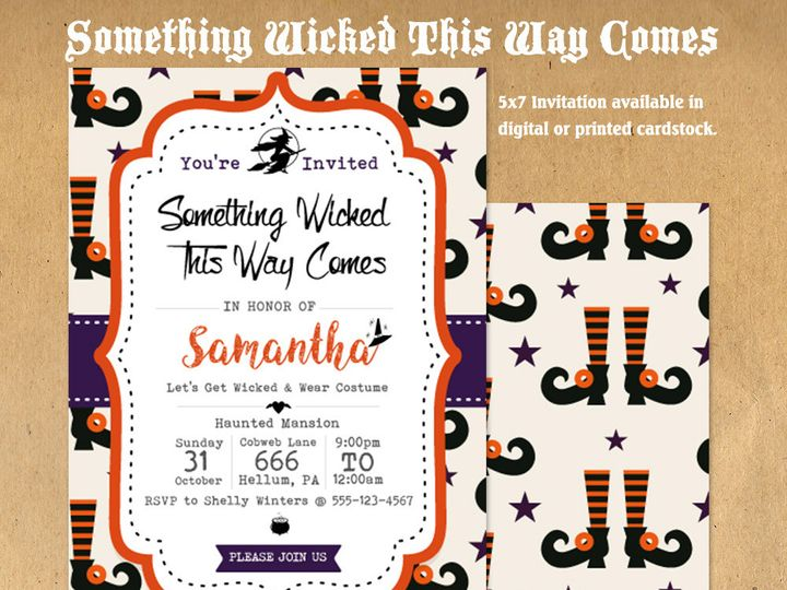 Tmx 1476334760963 Something Wicked Halloween Party Invite21000 Blackwood wedding favor
