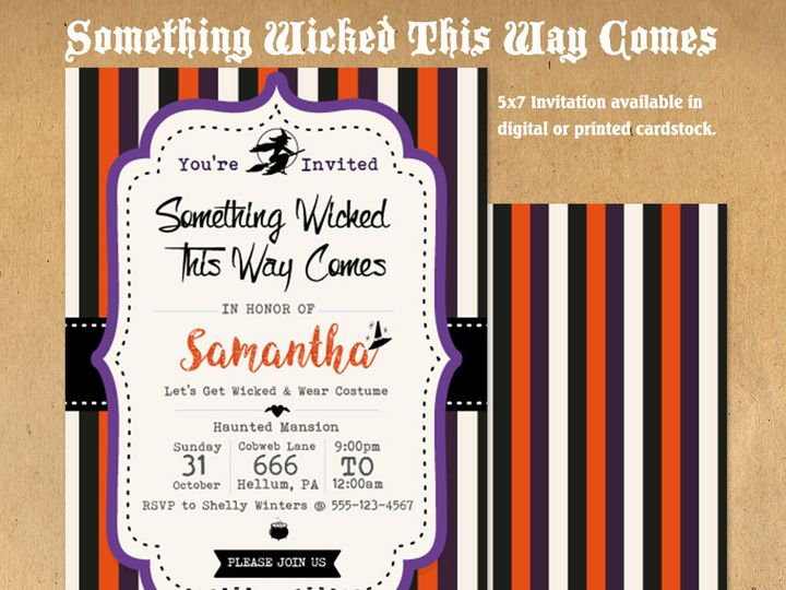 Tmx 1476334780110 Something Wicked Halloween Party Invite31000 Blackwood wedding favor
