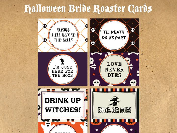 Tmx 1476334795634 Halloween Bride Roaster Cards1000 Blackwood wedding favor