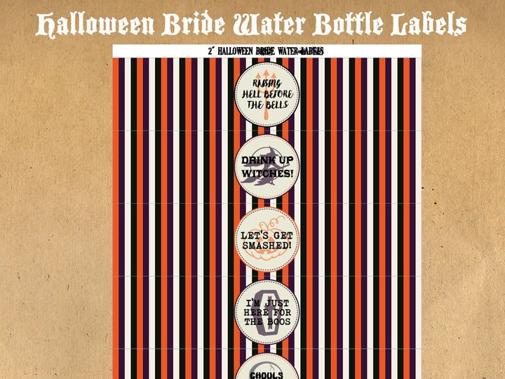 Tmx 1476334816983 Halloweenbridewaterbottlelabels1000 Blackwood wedding favor