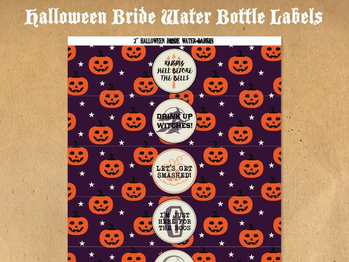 Tmx 1476334854751 Halloweenbridewaterbottlelabels31000 Blackwood wedding favor
