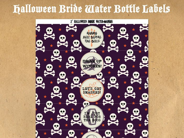 Tmx 1476334871560 Halloweenbridewaterbottlelabels41000 Blackwood wedding favor