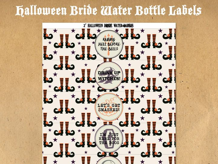 Tmx 1476334889723 Halloweenbridewaterbottlelabels51000 Blackwood wedding favor