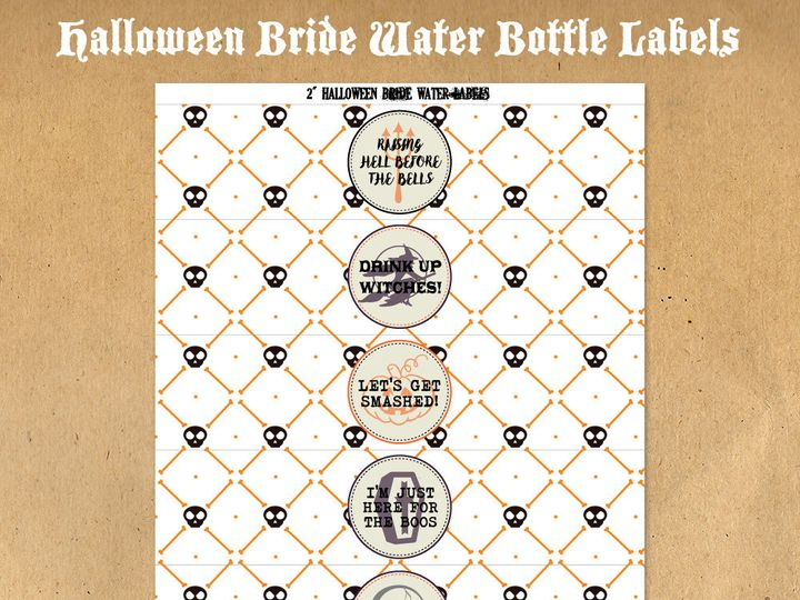 Tmx 1476334905414 Halloweenbridewaterbottlelabels61000 Blackwood wedding favor