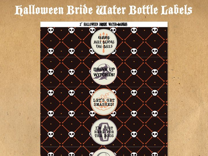 Tmx 1476334931531 Halloweenbridewaterbottlelabels71000 Blackwood wedding favor
