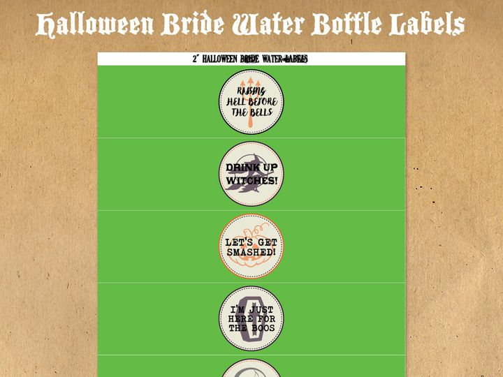 Tmx 1476334944787 Halloweenbridewaterbottlelabels81000 Blackwood wedding favor