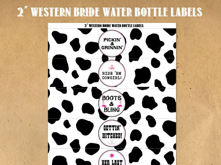 Tmx 1476335412656 Westernbridewaterbottlelabelscowprint Blackwood wedding favor