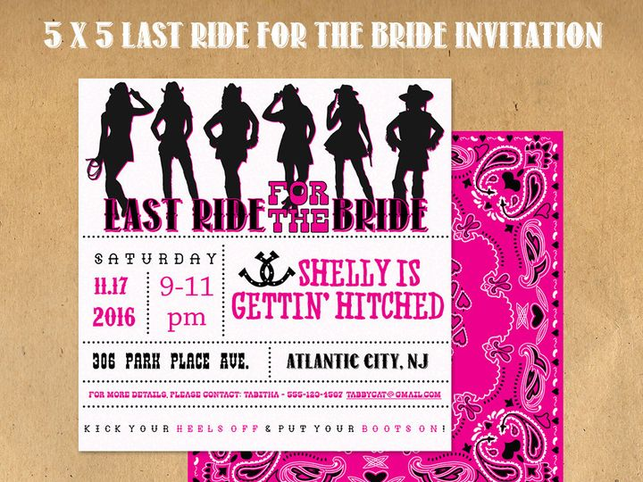 Tmx 1476344123620 Last Ride Invitation Blackwood wedding favor