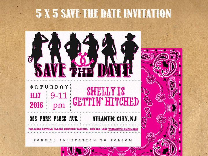 Tmx 1476344135835 Save The Date Invitation Blackwood wedding favor