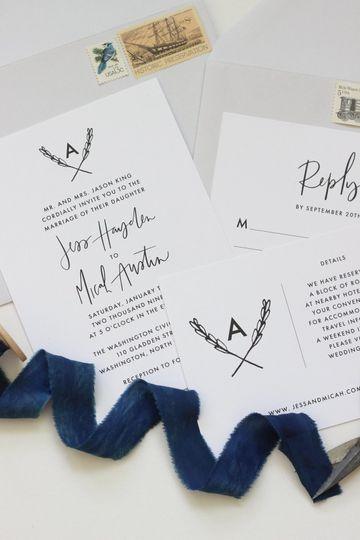 Navy blue ribbon | Workman Creative Co.
