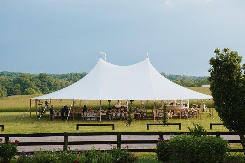 Hay Field Tented Wedding