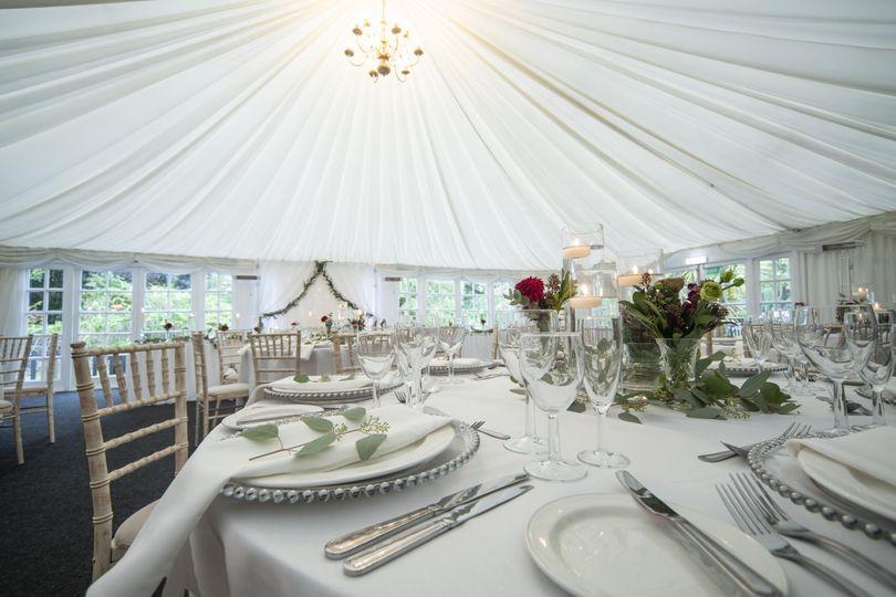 Big white tent