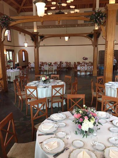 Rustic reception hall