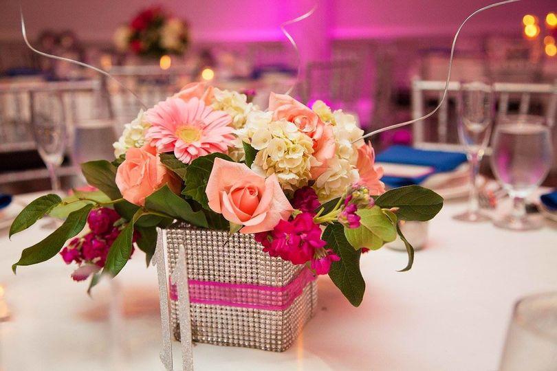 Boxed floral arrangement