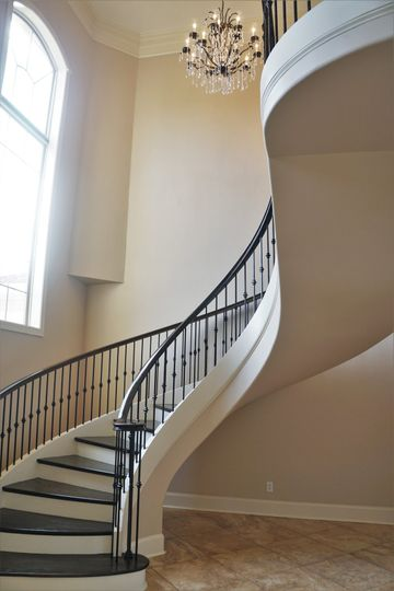 Stunning curved staircase