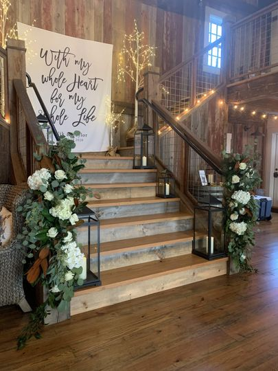 Delicate touch to rustic stair