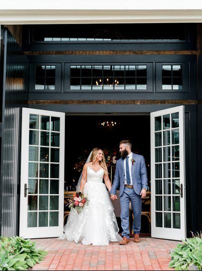 Rustic chic wedding barn nh