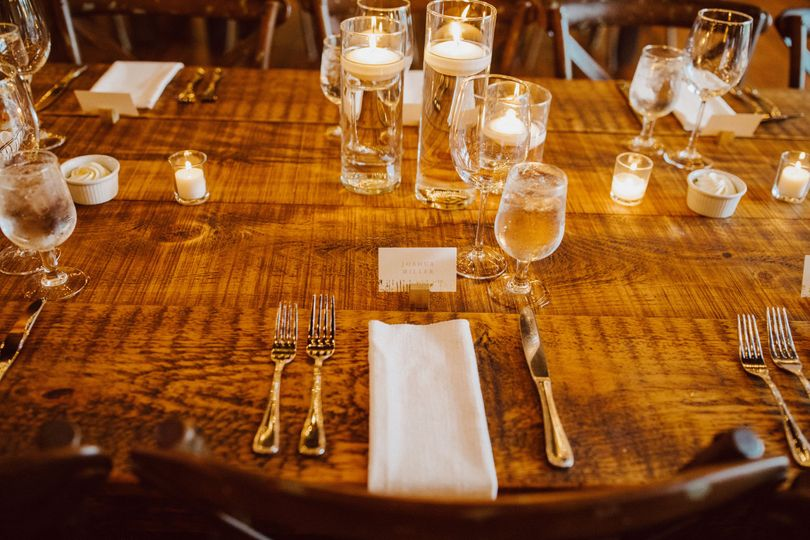 Rustic chic table settings