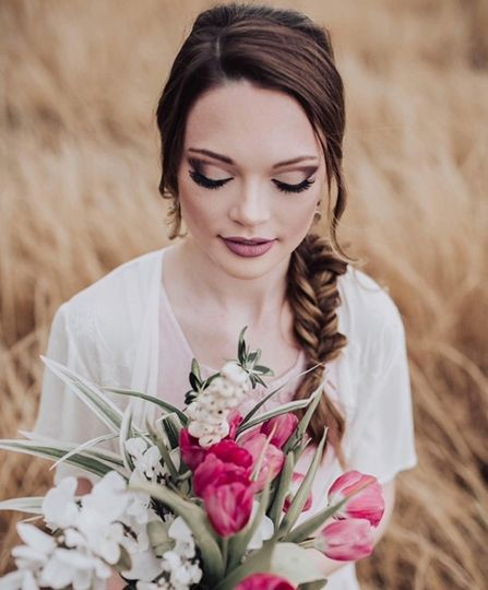 Styled shoot hair and makeup