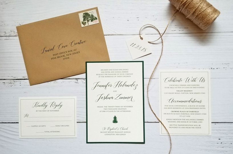 Rustic Winter Invitations