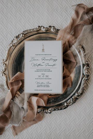 Elegant NYC Invitation