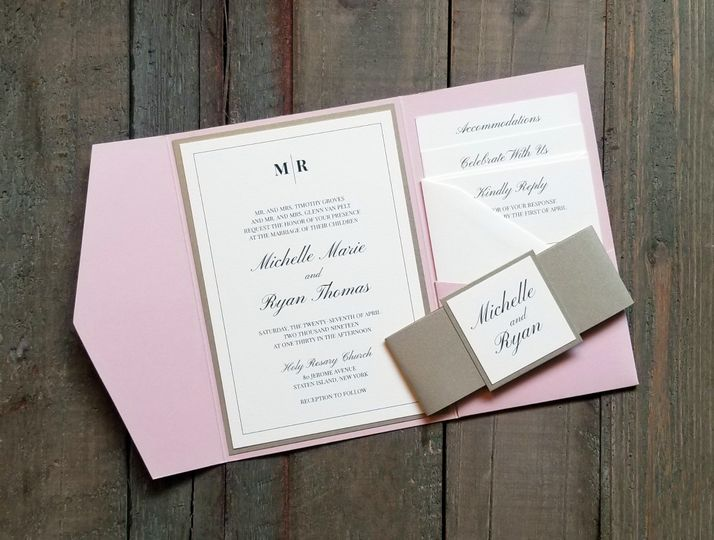 Classic Blush and Gold Pocket