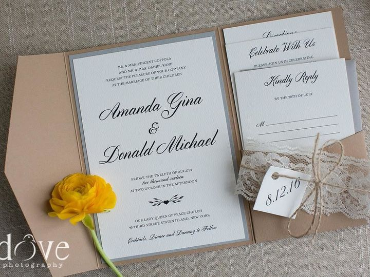 Tmx 1526702870 8c0b65680b5d8910 1526702869 6a620c80af9a1b5d 1526702868862 2 Unnamed 1 Andover, NJ wedding invitation