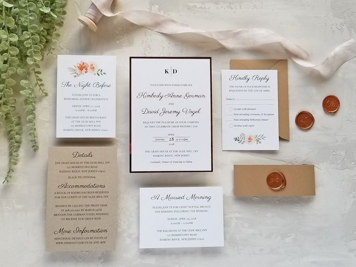 Tmx Laurelcovecreative Rosegoldfloral 51 975819 V1 Andover, NJ wedding invitation
