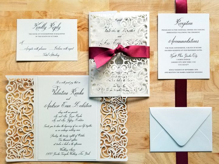 Tmx Laurelcovecreative Valentinasuite 51 975819 Andover, NJ wedding invitation
