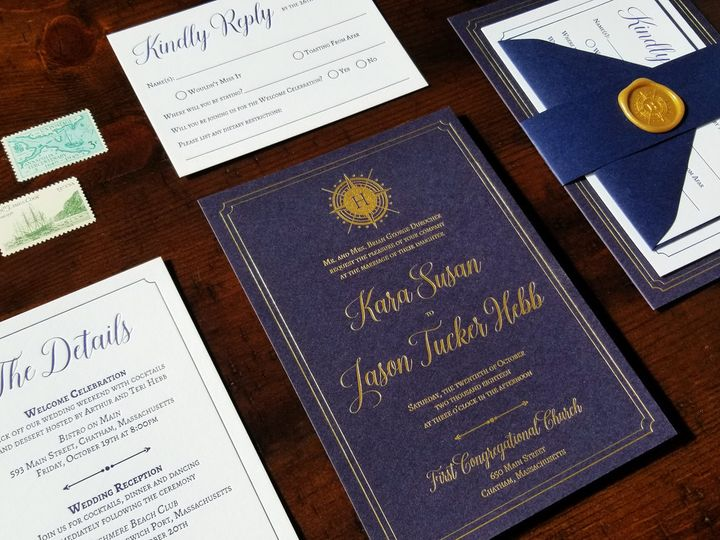 Tmx Nauticalletterpress 51 975819 V1 Andover, NJ wedding invitation