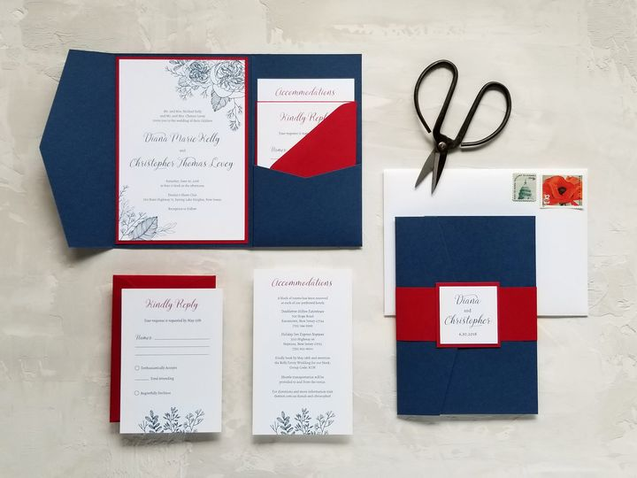 Tmx Patriotic Pocket 51 975819 V1 Andover, NJ wedding invitation