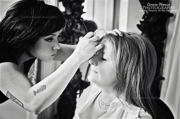 me applying makeup