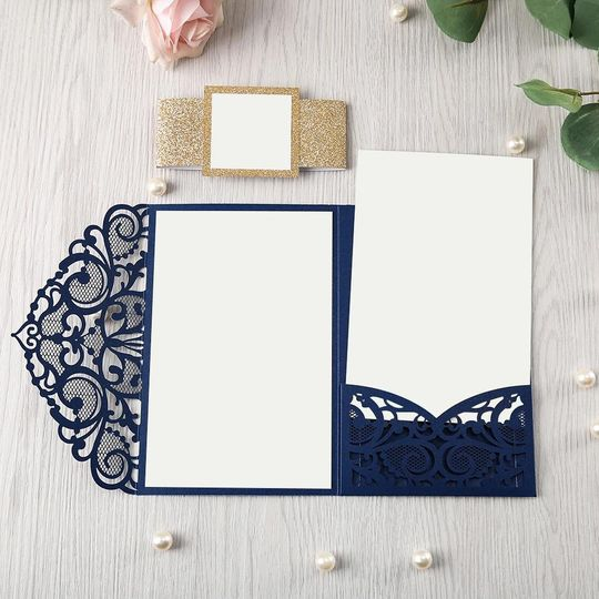 Lace Pocket - Blue