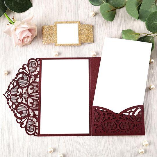 Lace Pocket - Burgundy