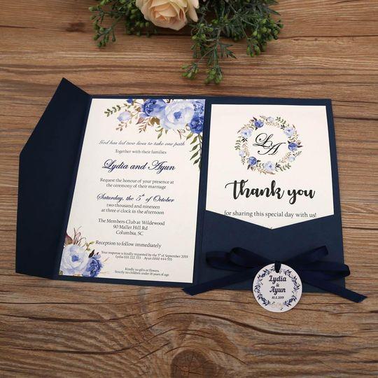 Pocket Invitation - Blue