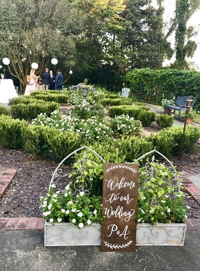 Formal garden signage