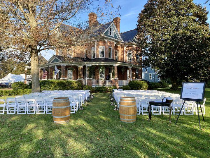 Set for wedding