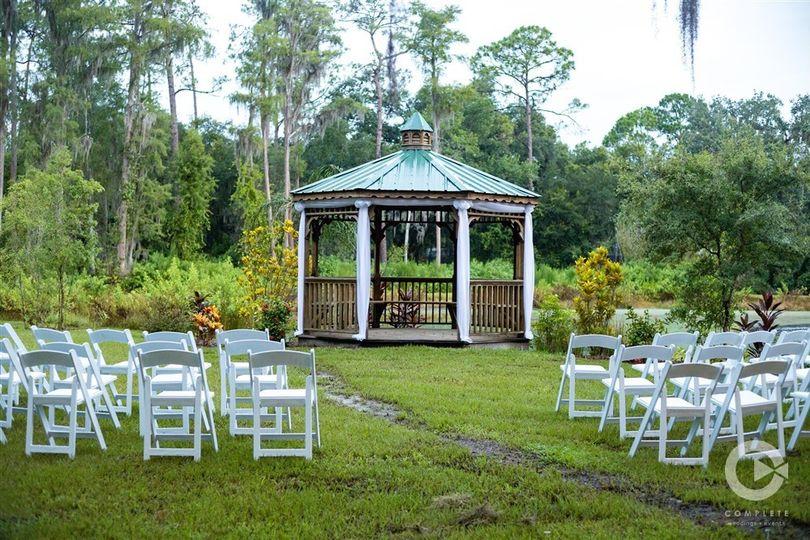 Gazebo ceremony area