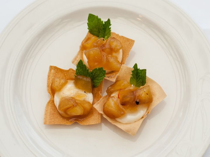 Tmx 1461611333226 Wonton Cup With Cream Cheese And Apple Chutney River Falls, WI wedding catering