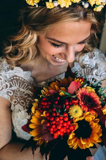 Bridal bouquet - fall colors