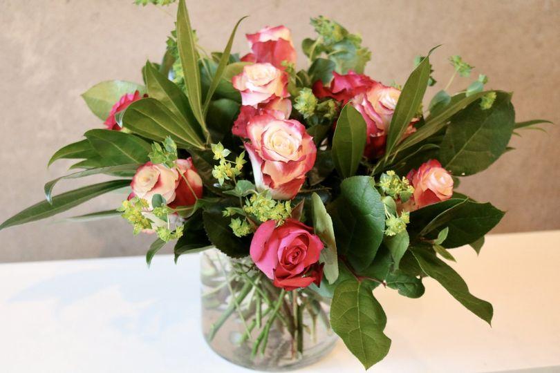 Two Tone Rose Arrangement