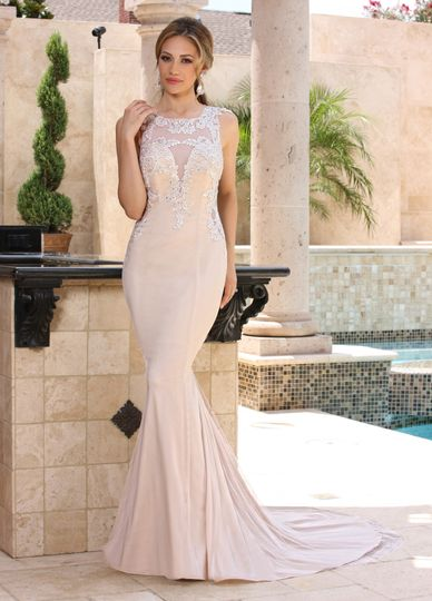 DaVinci Bridal Style #: 50371 Sophisticated bodice which is lightly beaded on embroidered lace...