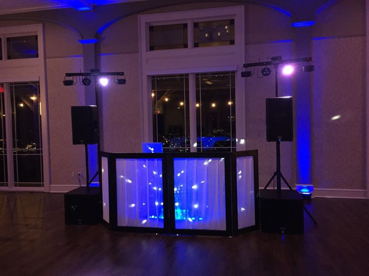 DJ station and lighting